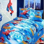 """Детское постельное белье 1,5сп. поплин """"Человек- паук"""""""