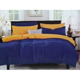 Комплект постельного белья с двухсторонним пододеяльником семейный