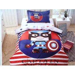 """Детский комплект """" Капитан Америка """" сатин люкс"""