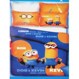 """Детское постельное белье 1,5сп. """"Миньоны- Боб и Кевин"""""""