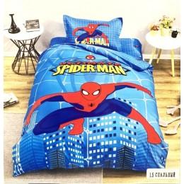 "Детский комплект "" Человек Паук- Spider man "" сатин люкс"