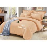 """Комплект постельного белья евро """"Шанель"""" с вышивкой"""