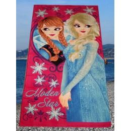 """Полотенце банно-пляжное детское """"Холодное сердце- Эльза и Анна"""""""
