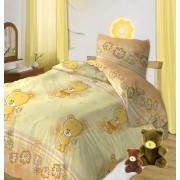 """Постельное белье в кроватку  Кошки-мышки """"Мишутки"""" желтый"""